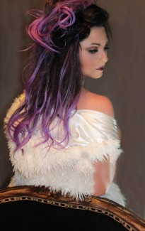 Mocha Dark Brown/Purple Balayage Hair Extensions